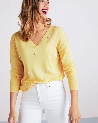 Пуловер желтый Violeta By Mango