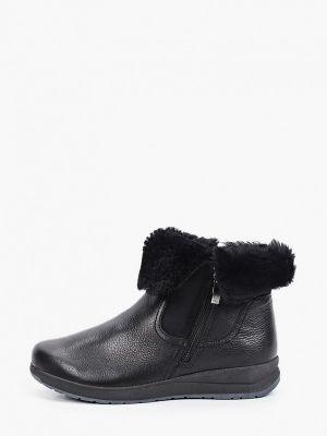 Кожаные ботинки - черные Caprice