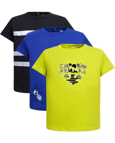 Синяя футболка Armani Junior