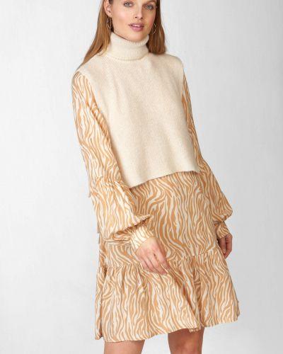 Sweter wełniany bez rękawów Orsay