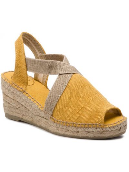 Sandały espadryle - żółte Toni Pons