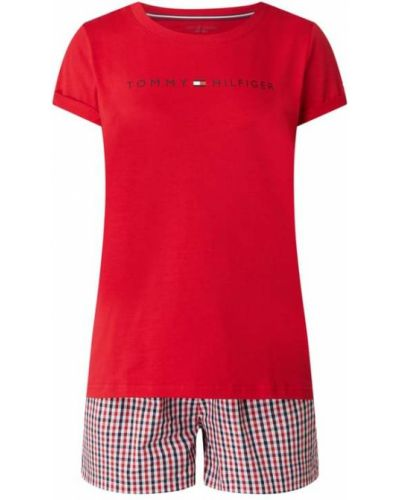 Piżamy z szortami bawełniana krótki rękaw Tommy Hilfiger