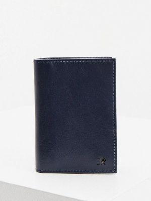 Кожаный портмоне - синий John Richmond