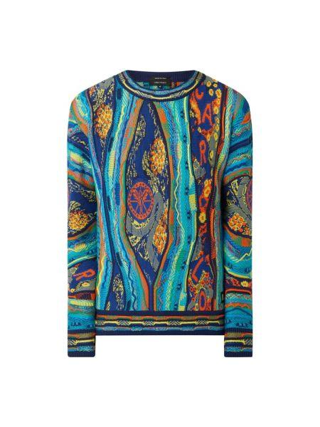 Sweter bawełniany - turkusowy Carlo Colucci