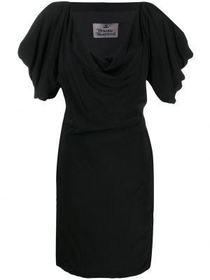 С рукавами черное платье мини с вырезом Vivienne Westwood