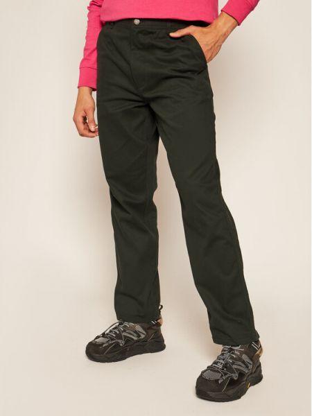 Czarne spodnie oversize Huf