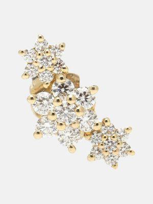 Żółte złote kolczyki ze złota z diamentem Maria Tash