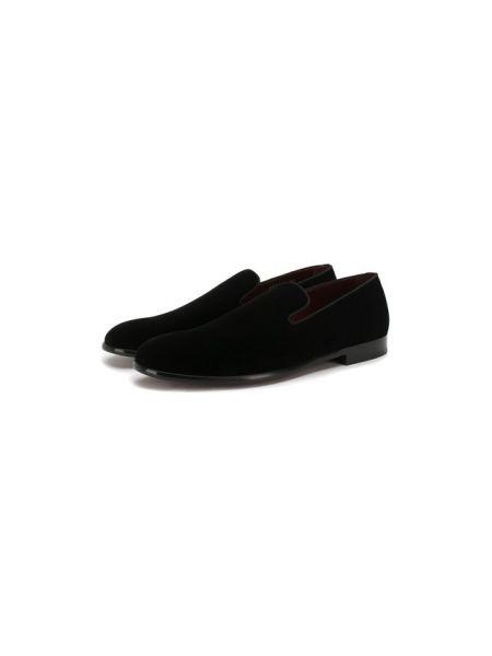 Лоферы черные бархатные Dolce & Gabbana