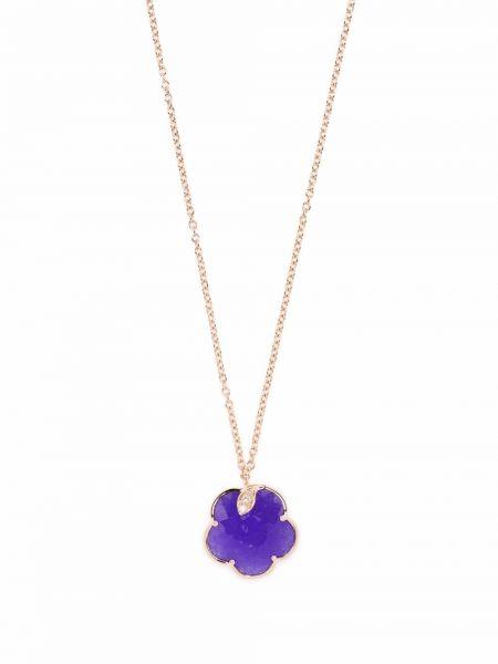 Różowy złoty naszyjnik łańcuch z diamentem Pasquale Bruni