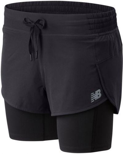 Тренировочная черная юбка мини с карманами New Balance