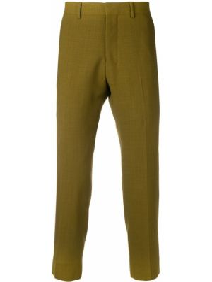 Укороченные брюки - зеленые Ami Paris