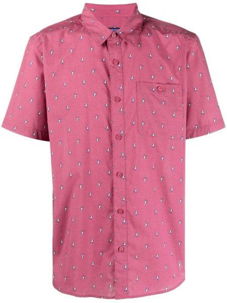 Розовая хлопковая классическая рубашка с короткими рукавами Patagonia