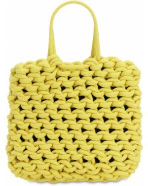 Żółta torebka bawełniana Alienina