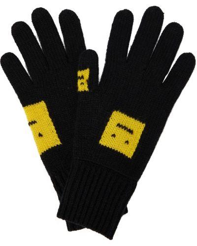 Шерстяные перчатки - желтые Acne Studios