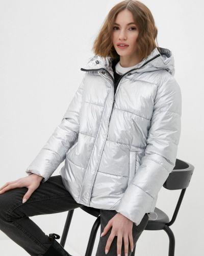Серебряная утепленная куртка Haily's