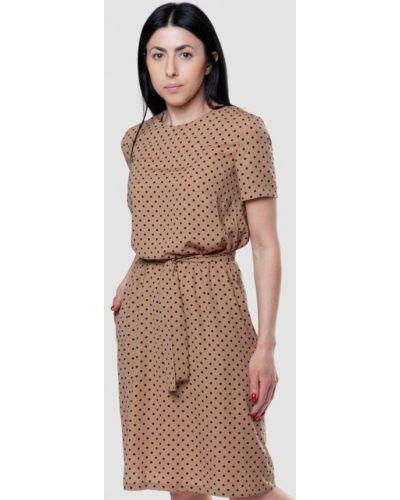 Бежевое повседневное повседневное платье Arber