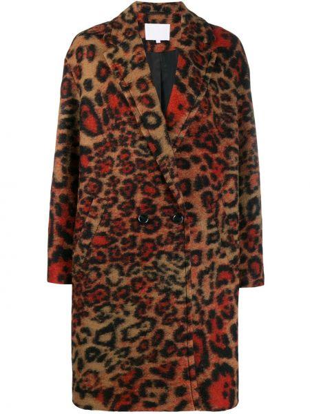 Длинное пальто с капюшоном на пуговицах Lala Berlin