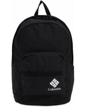 Czarny plecak z nylonu z printem Columbia