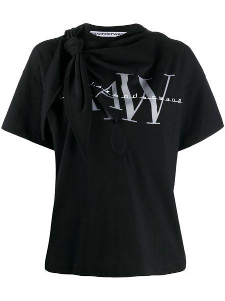 Koszula z krótkim rękawem z nadrukiem prosto Alexander Wang