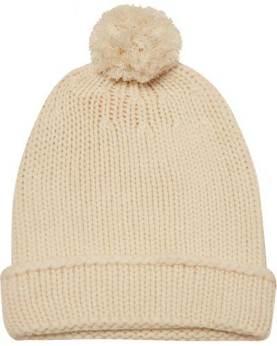Вязаная шапка с помпоном с отворотом Tegin