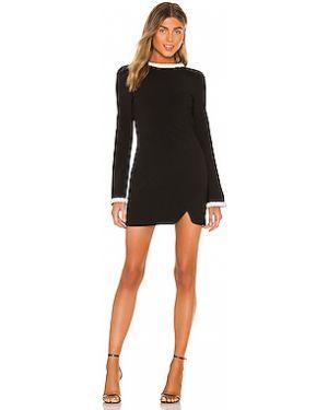 Черное шелковое платье мини с бисером на молнии Likely