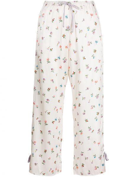 Укороченные брюки из вискозы на шнуровке Morgan Lane