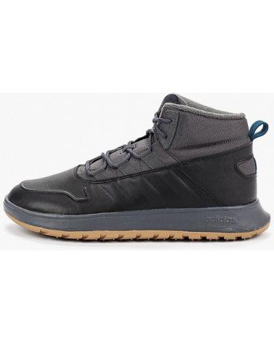 Высокие кроссовки черные из искусственной кожи Adidas