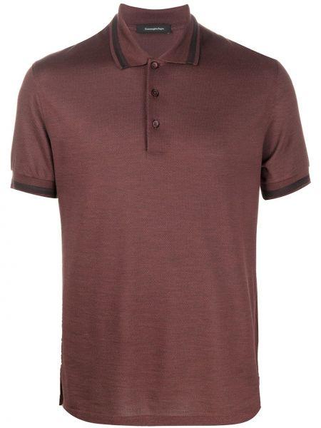 Koszula krótkie z krótkim rękawem klasyczna jedwab Ermenegildo Zegna