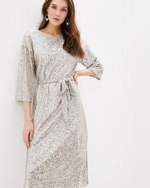 Вечернее платье осеннее серебряный Wallis