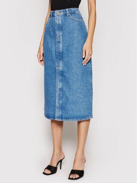 Spódnica jeansowa - niebieska Samsoe Samsoe