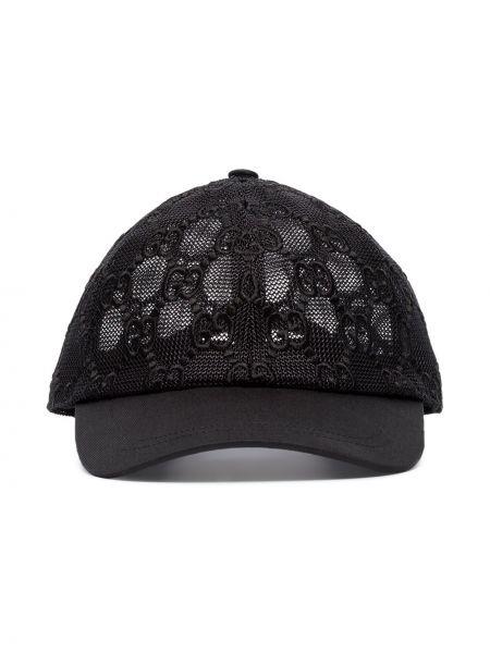 Хлопковая черная кепка Gucci