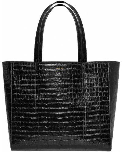 Czarna torba sportowa skórzana elegancka Anine Bing