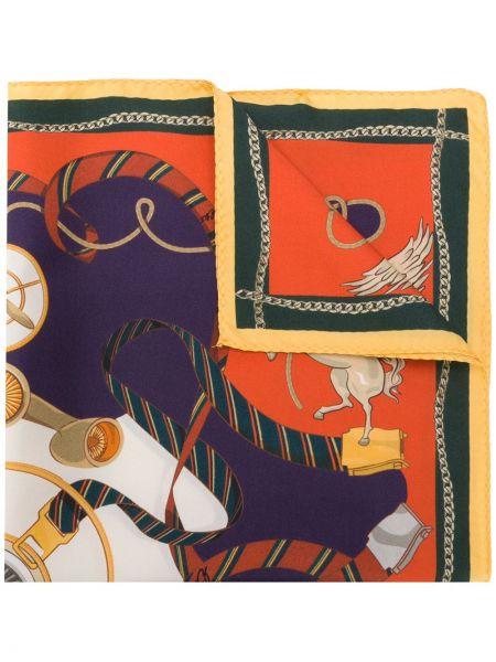 Шелковый оранжевый платок Etro