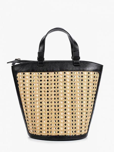Кожаная сумка соломенная бежевый Weekend Max Mara