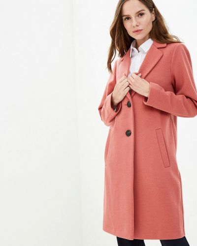 Коралловое пальто с капюшоном Marks & Spencer