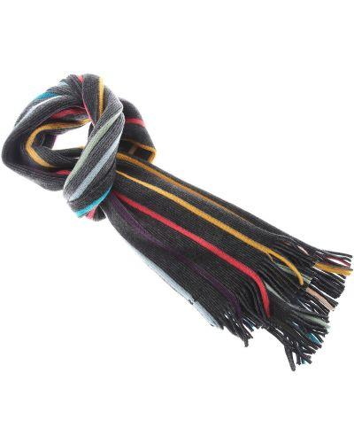 Szary szalik w paski bawełniany Paul Smith