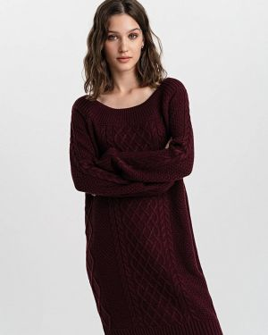 Платье бордовый вязаное Befree