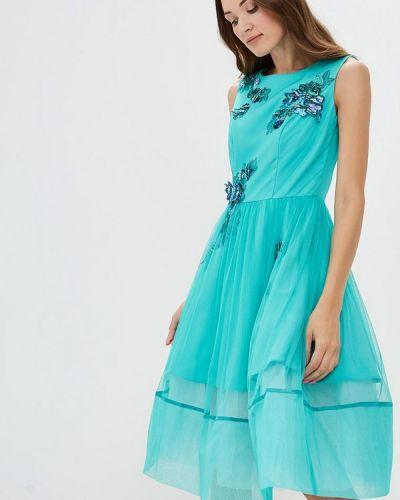 Вечернее платье бирюзовый Ricamare
