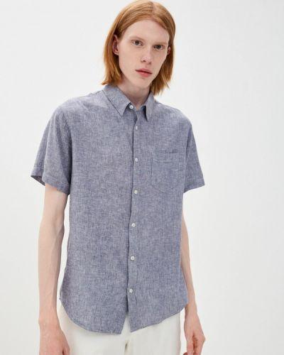 Синяя рубашка с короткими рукавами Fine Joyce