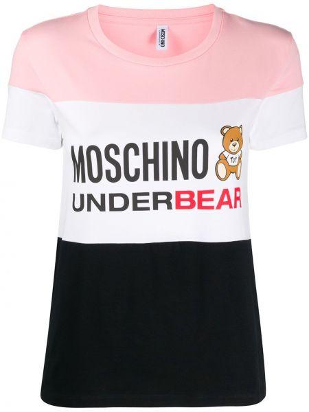 Хлопковая футболка - розовая Moschino Underwear