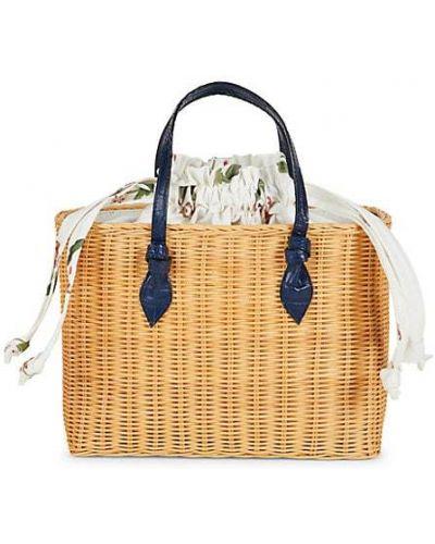 Кожаный ранец с карманами с тиснением Pamela Munson