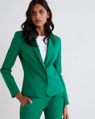Зеленый пиджак весенний Mango