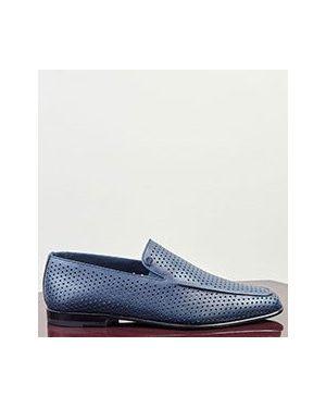 Синие кожаные туфли Zilli