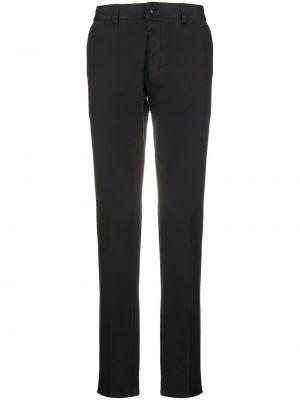 Czarne spodnie bawełniane z paskiem Ami