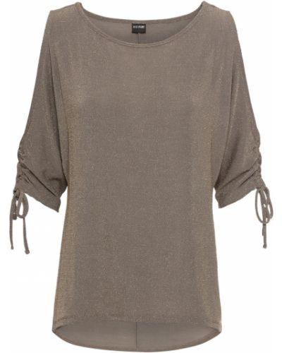 Свободная блузка с люрексом золотая Bonprix