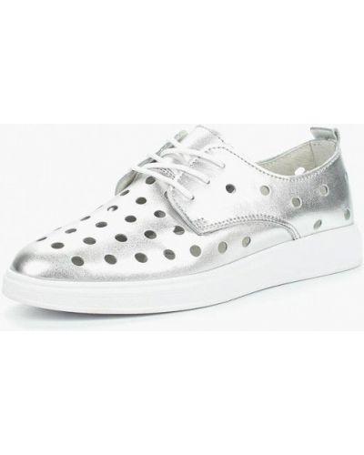 Кожаные ботинки серебряного цвета Rio Fiore