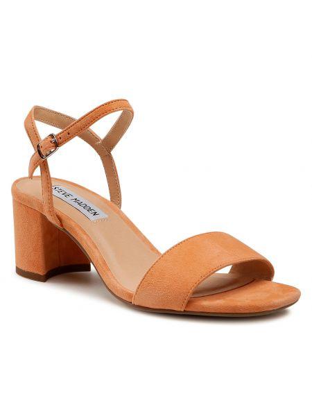 Sandały skórzane - pomarańczowe Steve Madden