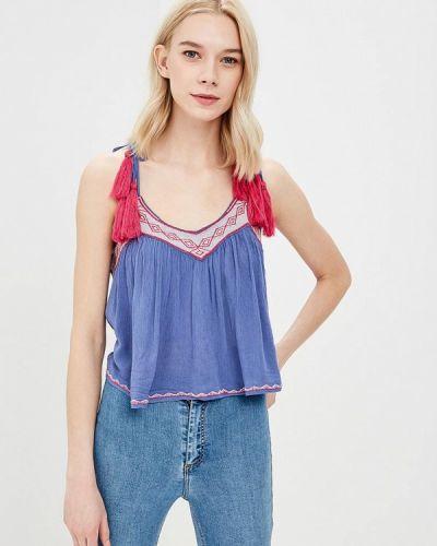 Бежевая блузка с рюшами Glamorous