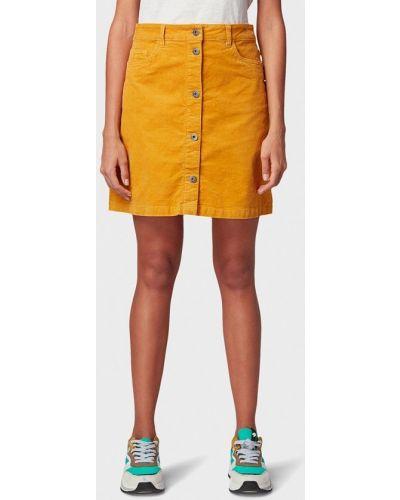 Джинсовая юбка широкая желтый Tom Tailor Denim