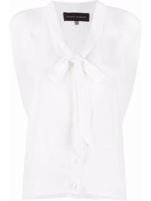 Шелковая блузка - белая Talbot Runhof